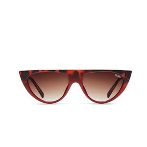 QUAY Runaway sunglasses in tortoise red/ brown